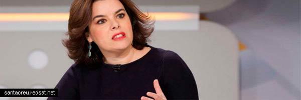 Rajoy y Soraya Sáenz de Santamaría ante el golpe de Estado anunciado