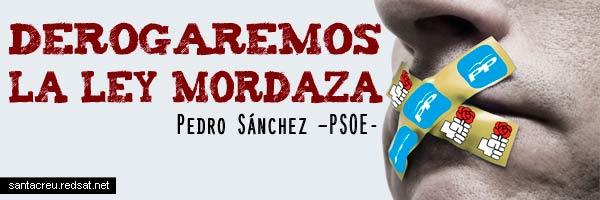 La Ley Mordaza, Pedro Sánchez y el gatopardismo